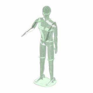 Full Body male impression of sculpture Acrylic Cut Out