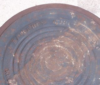 Antique Cast Iron Cistern Well Cover Fairbury Nebraska