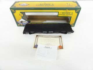 The Buddy L Railway Express Santa FE Railroad Flat Car G Scale 52003