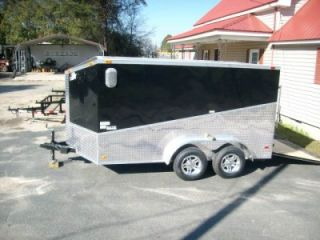 12 Enclosed Double Motorcycle Trailer Black ATP Slant Pkg 2012