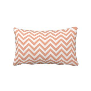 Peach Chevron Lumbar Pillow
