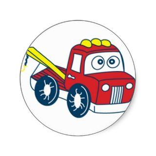 Big Berthas Cartoon Tow Truck Sticker