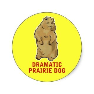 Dramatic Prairie Dog Round Sticker