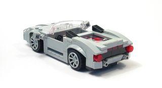 Lego Custom Light Gray Mid Engine Sports Car City Town Racers 10218