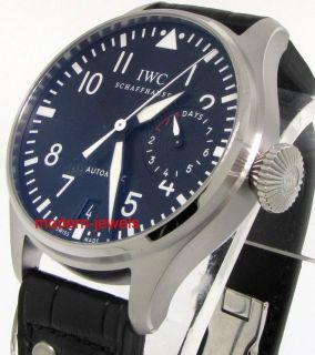 IWC Classic Big Pilot Steel Black Mens Watch IW500401