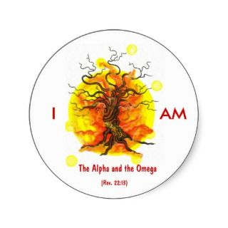 Alpha and Omega Sticker