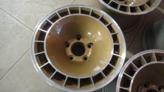 15x8 Pontiac Trans Am Firebird Turbo Wheels Original Refinished Gold