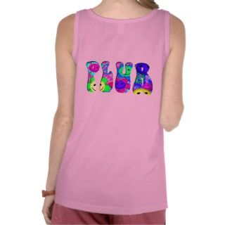 Colorful Smiley Optical Illusion Puffy PLUR Tanks