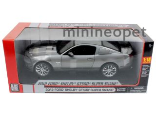 Collectibles 2012 Ford Shelby Mustang GT500 Super Snake 1 18 Grey
