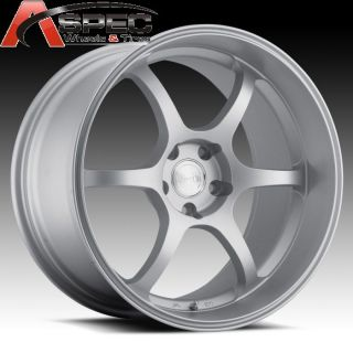 19 Staggered Euro Tech UO05 5x114 3 Silver Rim Wheel Fit G35 G37 350Z