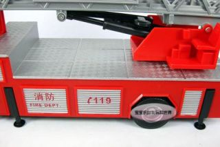 New 1 32 Man Fire Fighting Truck Alloy Diecast Model Car with Box Red