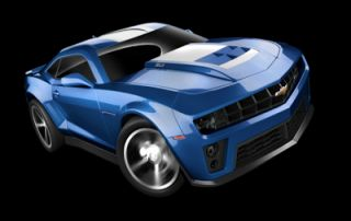 Hot Wheels Metallic Blue 2012 Chevrolet Chevy Camaro ZL Muscle Car