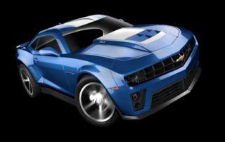 Hot Wheels Metallic Blue 2012 Chevrolet Chevy Camaro ZL Muscle Car