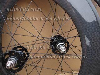 88mm Tubular Track Carbon Wheelset Fixed Gear Carbon Wheels