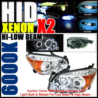 Set Xenon 06 08 Toyota RAV4 Halo Projector Headlights