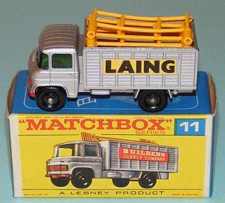 Matchbox 11D Mercedes Scaffold Truck RARE Laing Labels