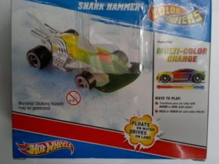 Hot Wheels Colour Shifters Bath Toy Brown Hammerhead Shark Car Land or