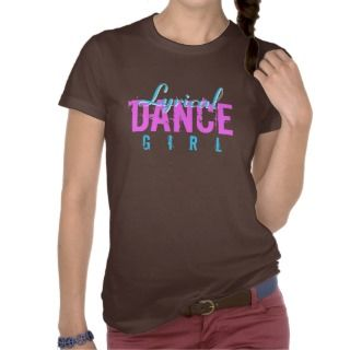 Lyrical Dance Girl Tee Shirts