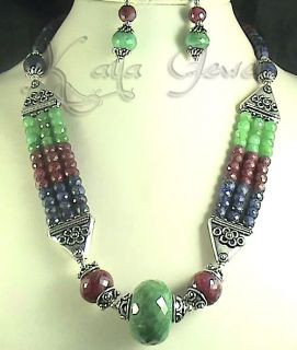 Wholesale Bead Necklace emerald necklace items in Kaya Jewels