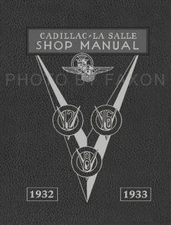1932 1933 LaSalle and Cadillac Shop Manual V8 V12 V16 Repair Service
