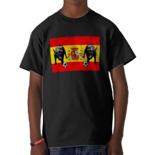 España La Furia Roja futbol Toro Flag of Spain T shirt