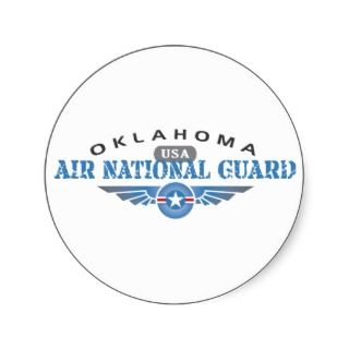 Oklahoma Air National Guard Round Sticker
