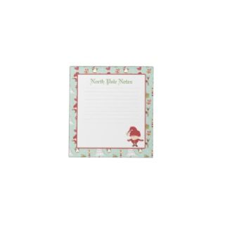 Holiday Christmas Santa Claus Lined Notepads