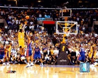 Kobe Bryant   04 Finals   3 point shot, rear view Photograph at Art