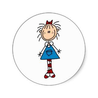 Stick Figure Annie Sticker