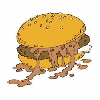 sloppy chili burger photo cutout