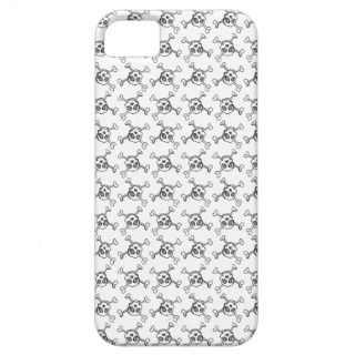 sketched crossbone skulls iphone case iPhone 5 case