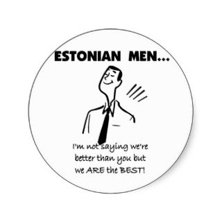 Retro style Estonian Men Are Best T shirts, stickers, buttons, mugs
