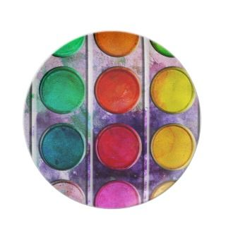 Fine Art Fun Colorful Paint Color Box Plate