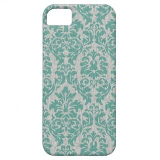 Teal Damask iPhone Cases iPhone 5 Case