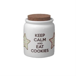 Keep Calm and Eat Cookies Mini Cookie Jar Candy Jars