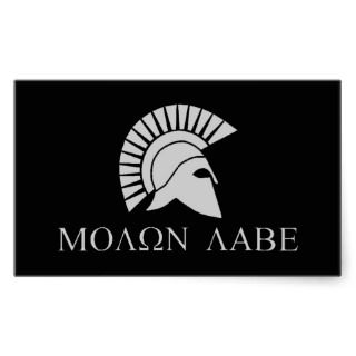 Molon Labe Sticker   Sheet of 4