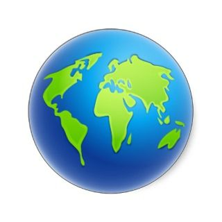 World Globe Sticker