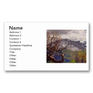 Rim Trail Oil Landscape Painting Business Cards
