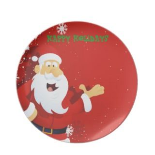 Melamine Christmas Plate