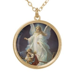 Vintage Guardian Angel with Children Custom Jewelry