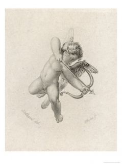 The Greek God of Love His Roman Equivalent is Cupid Giclee Print by Rhodes
