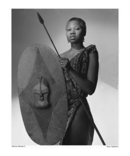 Warrior Woman (Small Border) Photographic Print by Jerry Taliaferro