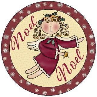 Noel Angel Christmas Tree Ornament Photo Cut Out
