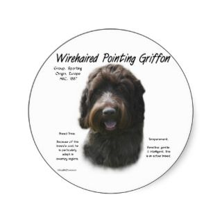 Wirehaired Pointing Griffon History Design Stickers