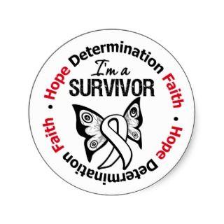 Lung Cancer Survivor Hope Determination Faith Sticker