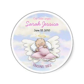 Angel Baby Girl   Heaven sent Sticker