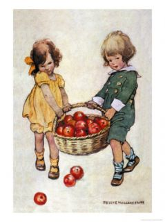 Helping Hands Premium Poster by Jessie Willcox Smith