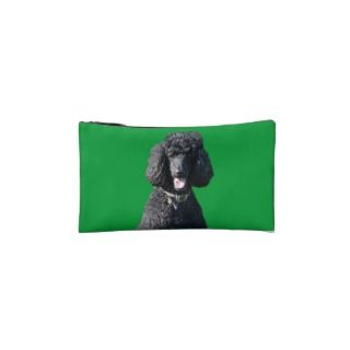 Standard Poodle dog black beautiful photo Makeup Bag