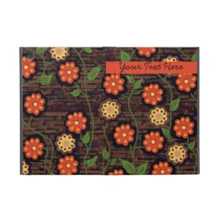 Orange and Yellow Flowers on Brown iPad Mini Case