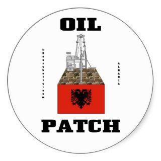 Albanian Oil Fields Sticker,Albanian Flag,Oil,Gas